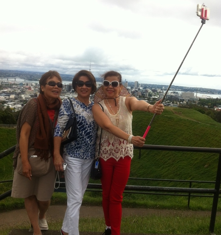 Selfies on Mt Eden Auckland